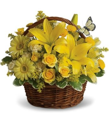 Lavish Bright Yellow Basket
